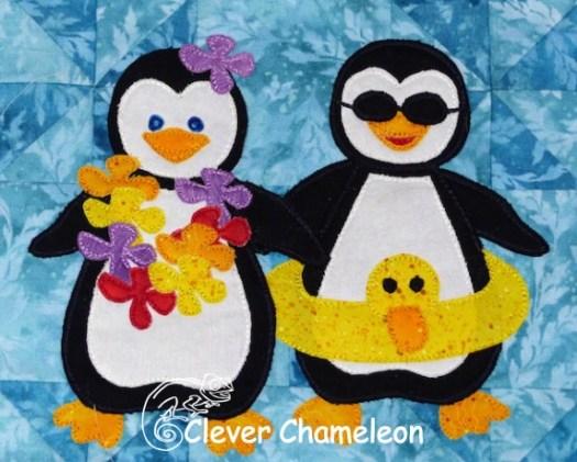 Appliqué penguins by Clever Chameleon