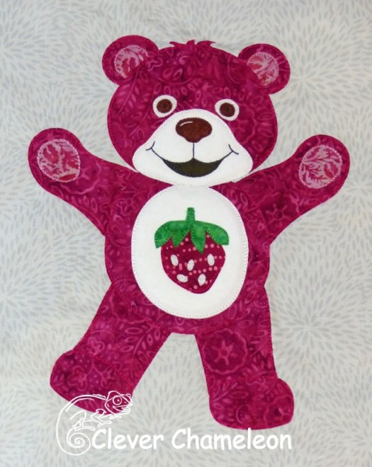 Red-Violet Bear of Healthy Choices appliqué by Clever Chameleon