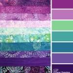 Blossoms Batik Splash fabrics by RJR at Clever Chameleon