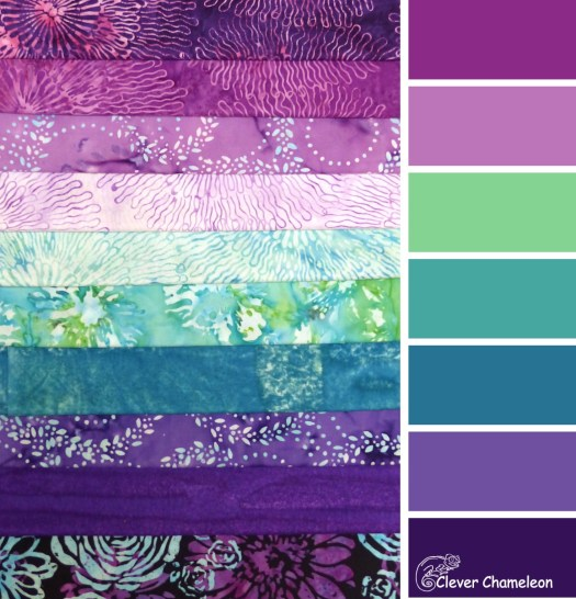 Blossom Batiks Splash color scheme by Clever Chameleon