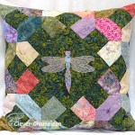 Dragonfly pillow by Dione of Clever Chameleon