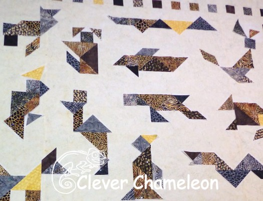 Wild Things Tangram Quilt by Dione of Clever Chameleon