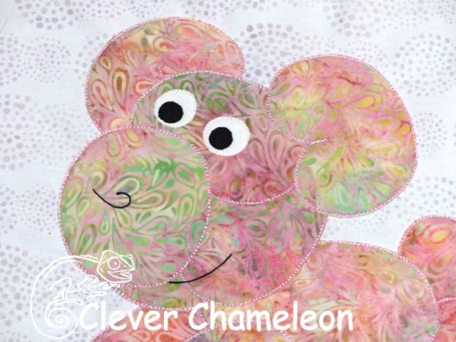 Love with a twist balloon pig clever chameleon quilting