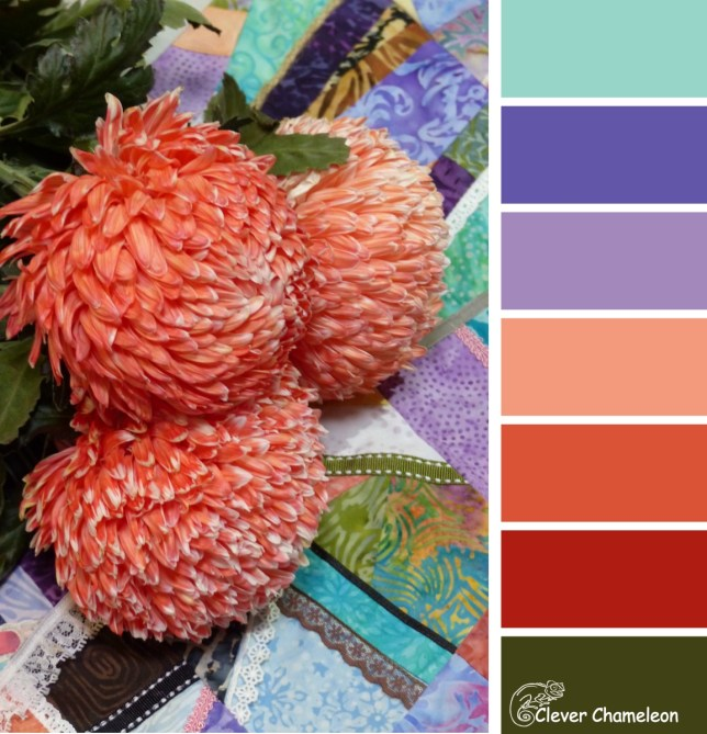 Crazy Coral colour board at Clever Chameleon