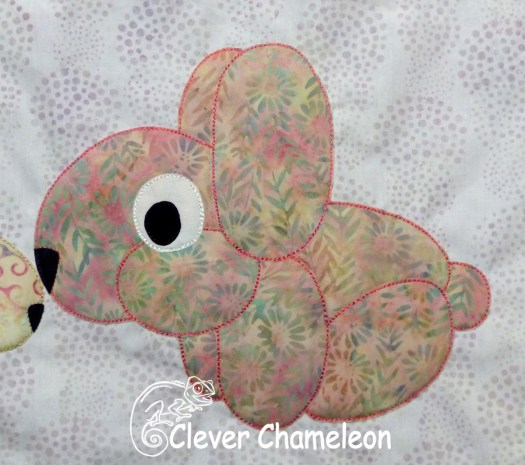 Responsible Rabbit appliqué for Love with a Twist quilt along at Clever Chameleon