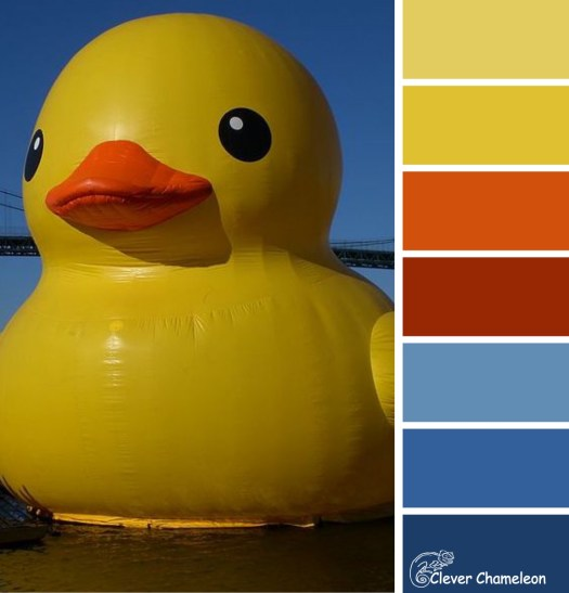 Rubber duck sculpture colour scheme from Clever Chameleon