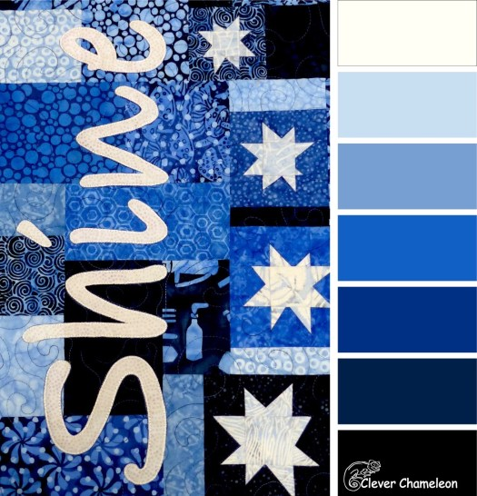 Shine On Blues color board at Clever Chameleon