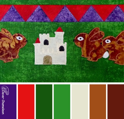 Hares and Castle colour board at Clever Chameleon