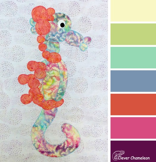 Serene Seahorse colours at Clever Chameleon