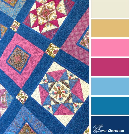 Sawtooth Star quilt colour board