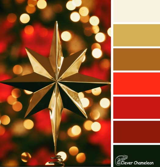 Christmas Star colour board at Clever Chameleon
