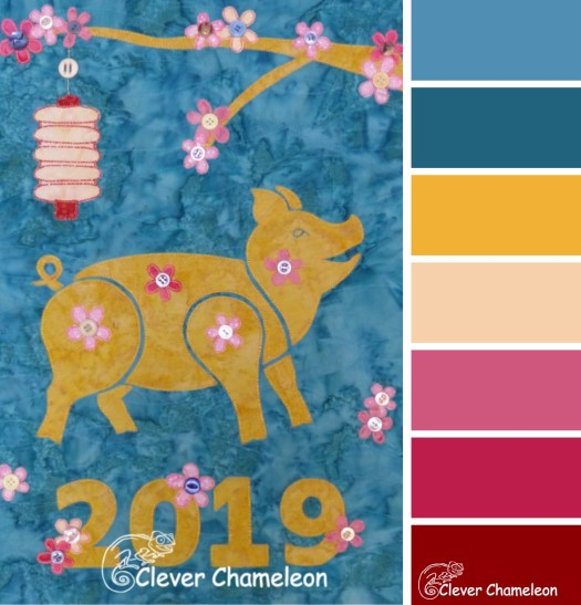 Year of the Pig colour board at Clever Chameleon