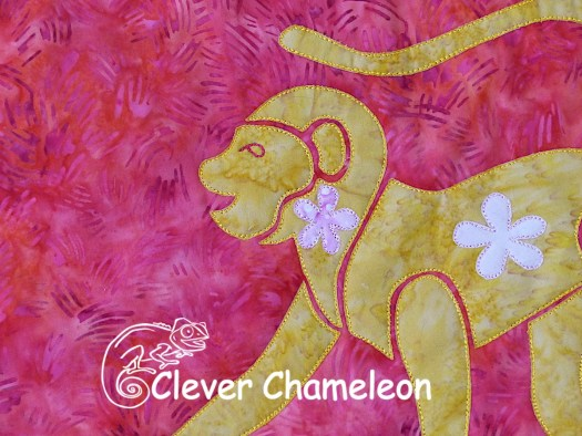 Year of the Monkey block from the Lunarcy Quilt at Clever Chameleon Quilting