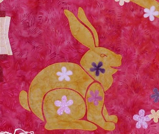 Year of the Rabbit appliqué pattern at Clever Chameleon