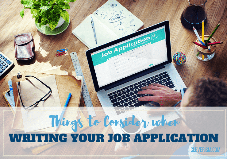 Things to Consider when Writing Your Job Application