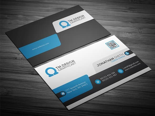 75 free business card templates that are stunning beautiful 5 blue corporate business card colourmoves