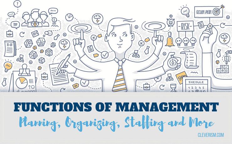 functions of management  u2013 planning  organizing  staffing