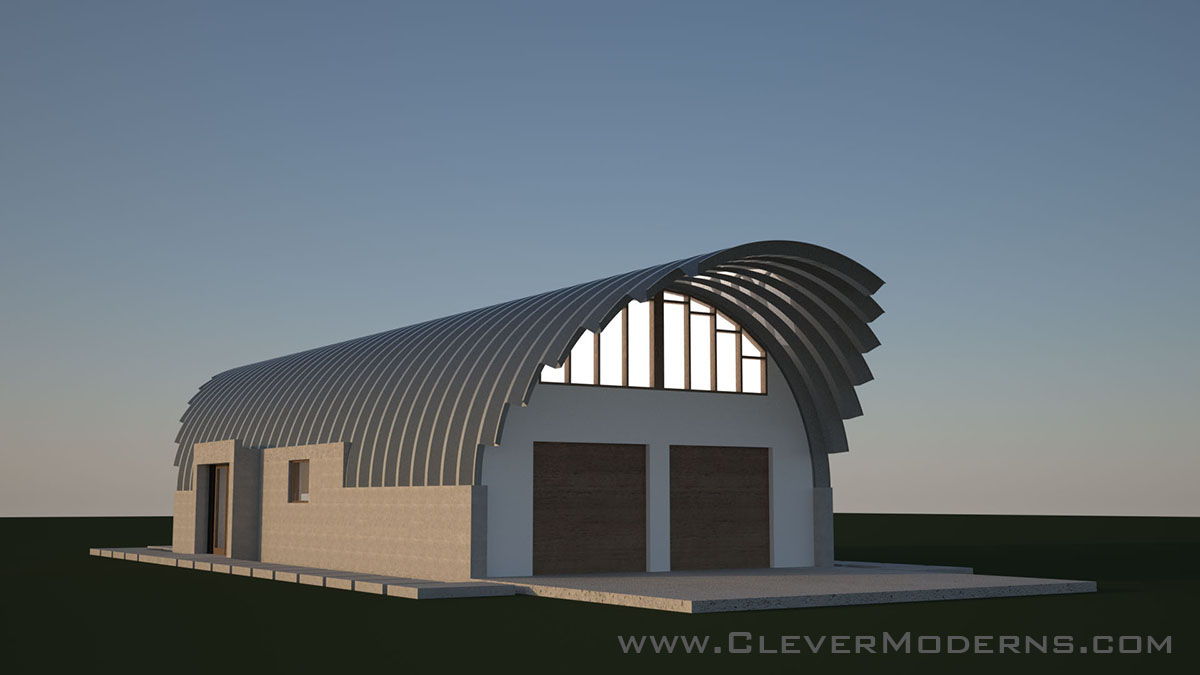 Building a quonset hut house clever moderns clever moderns quonset hut house preliminary design solutioingenieria Image collections
