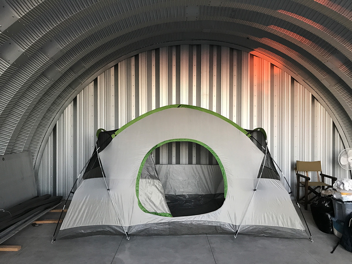 Our primary task for this visit was to frame up the wood stud walls enclosing the & inflatable concrete tent - Home Design