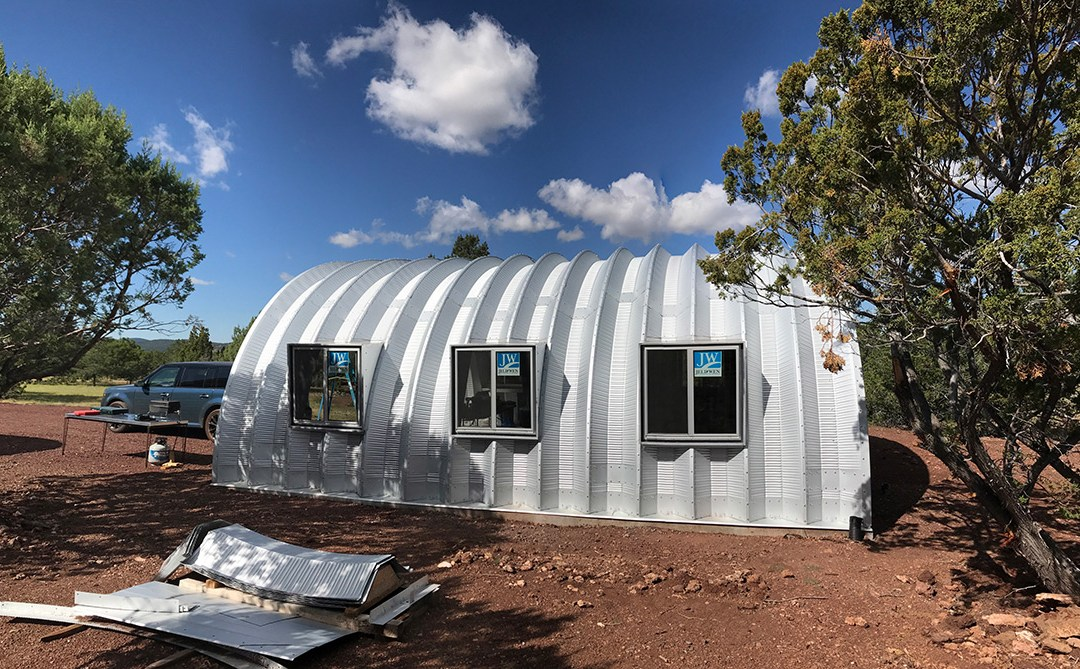 Quonset Hut Side Windows: Installed!