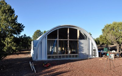 Quonset Hut End Wall Construction