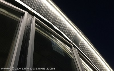 Quonset Hut House Exterior LED Lighting