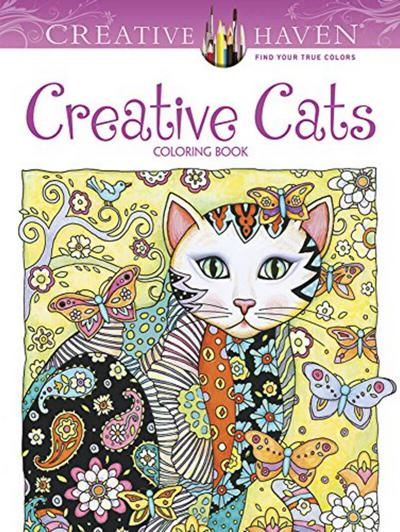 Creative Haven Cats Coloring Book Books