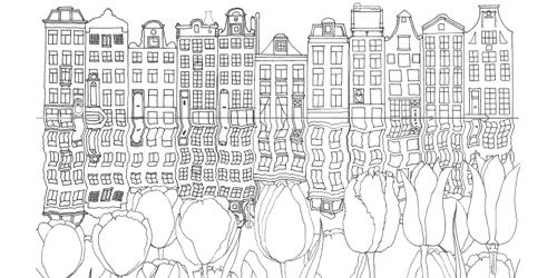 Creative Haven CityScapes: A Coloring Book with a Hidden Picture Twist