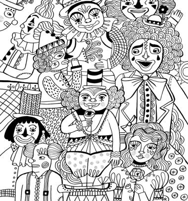 Just Add Color: Circus: 30 Original Illustrations To Color, Customize, and Hang