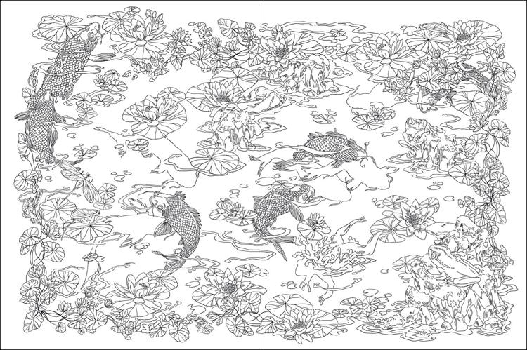 Japanese Coloring Books