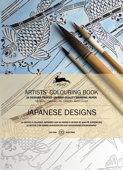 Japanese Designs Artists Coloring Book