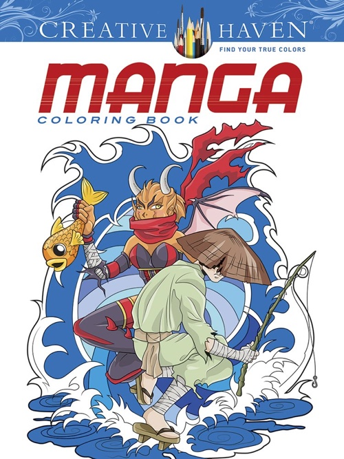 Creative Haven Manga Coloring Book (Creative Haven Coloring Books)