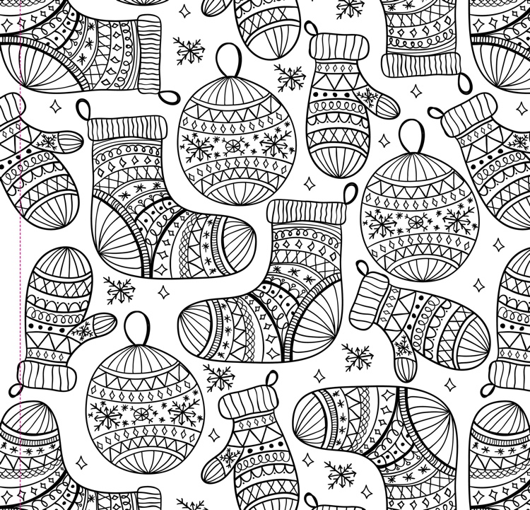 Christmas Designs Adult Coloring Book (31 stress-relieving designs)