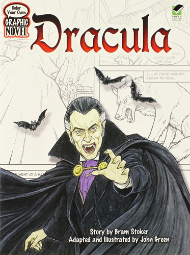 Color Your Own Graphic Novel: DRACULA (Dover Classic Stories Coloring Book)