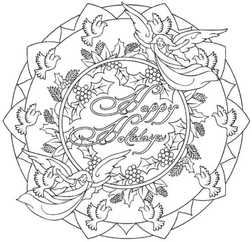 elegant christmas coloring books to set the holiday mood with christmas mandala coloring pages