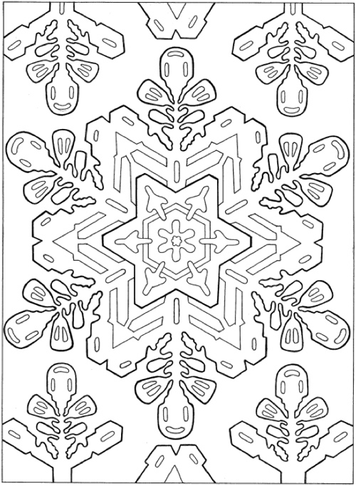 22 Christmas Coloring Books To Set The Holiday Mood Creative Haven Snowflake Designs Book