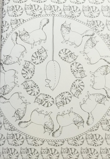 Art Therapy Cat 100 Designs Colouring In And Relaxation