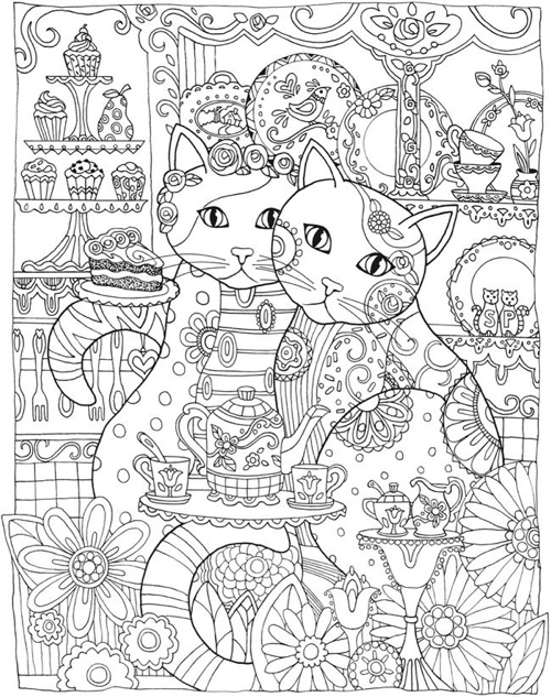 creative haven creative cats coloring book - Best Coloring Book