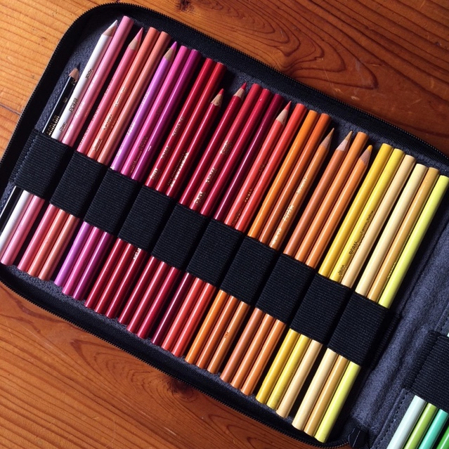 Zip-Up Colored Pencil Case
