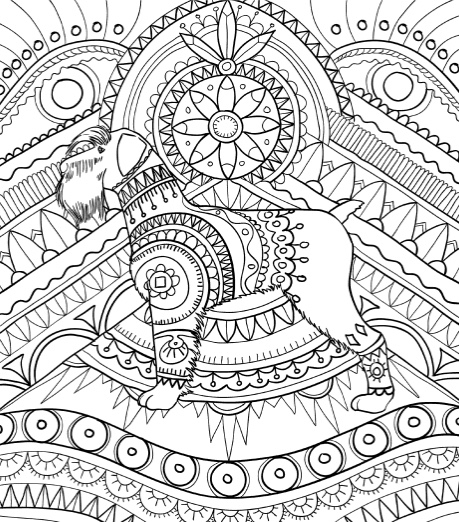 coloring book pages dogs - photo#49