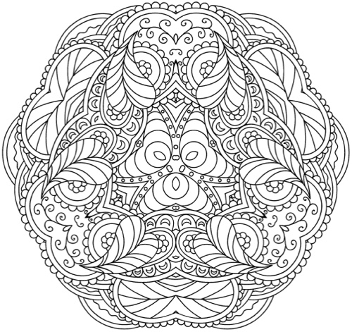 Adults Who Color Mandalas This Book