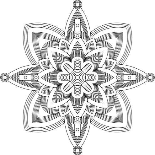 The Craft of Coloring: 35 Mandala Designs