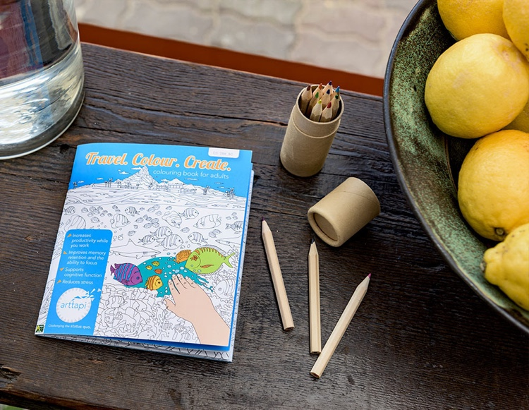 Travel, Colour, Create Coloring Book