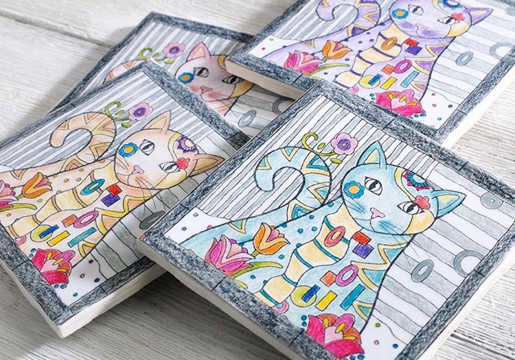 Crafty Ways to Use Your Coloring Pages: DIY Coasters!