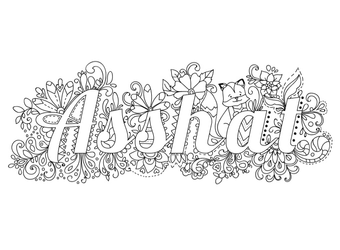 Crush image with swear word coloring pages printable free