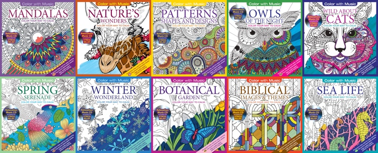 The Color With Music line of coloring books currently includes ten different titles!