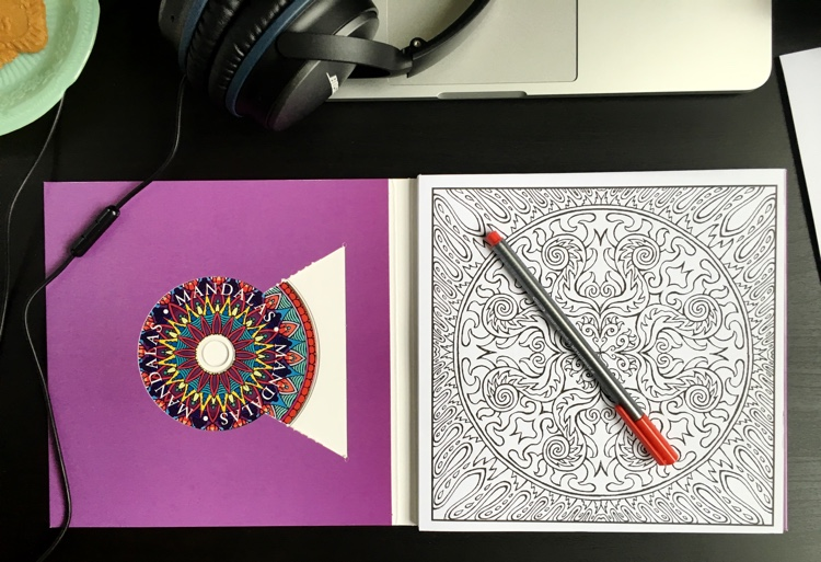 Color With Music is a new line of coloring books that include a CD right inside the front cover.