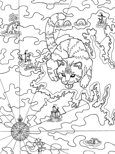 Cats: A Journey Through Time, Coloring for the Curious