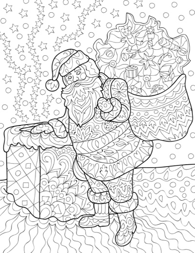 Christmas Joys: Coloring Book for Adults