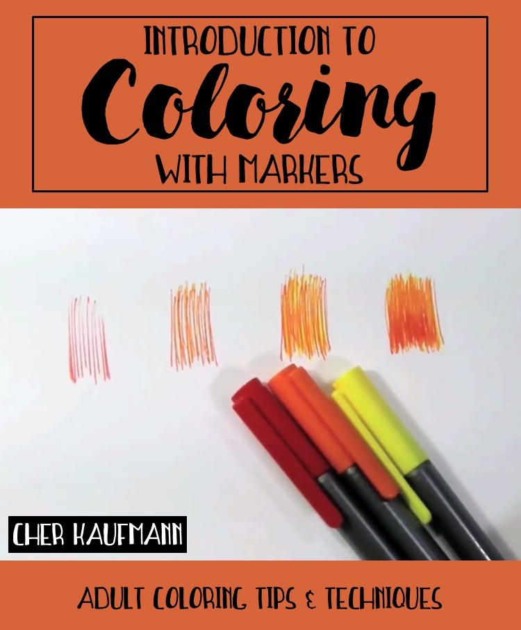 introduction to coloring with markers